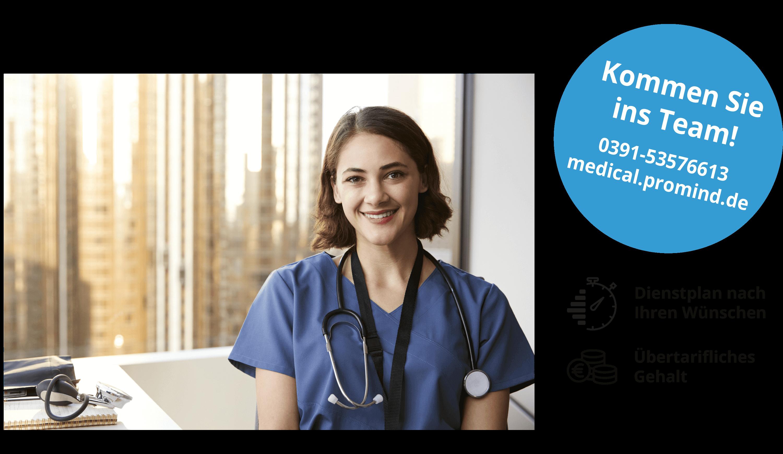 Jobs in Pflege: Mitarbeiterin von PROMIND medical